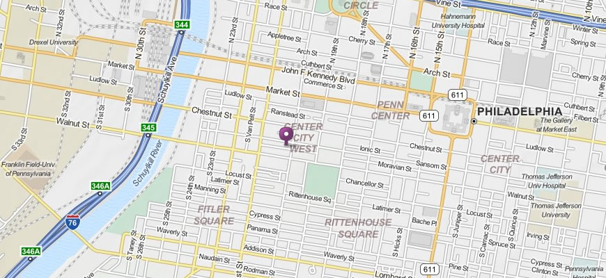 Map of Home Sweet Homebrew in Philadelphia, PA.